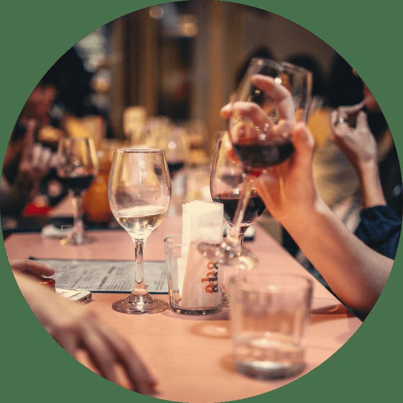 selección de vinos y Cocktails